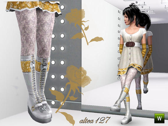 Lolita boots teen By altea127