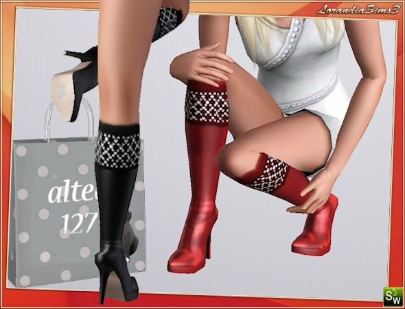 Crystal boots - Boots with crystals applicated on top side by Altea127