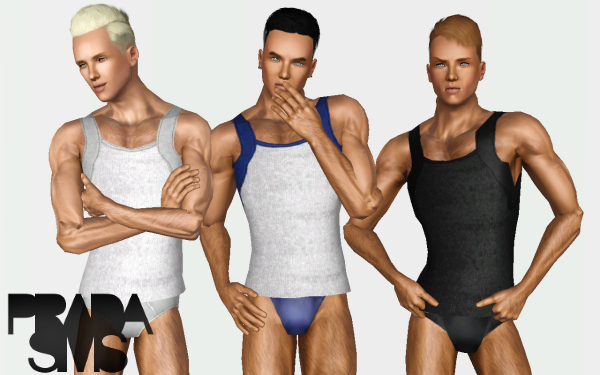 Square-Cut Tank Top for Males by Prada Sims