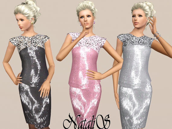 Sequin embroidered dress 082 FA от NataliS