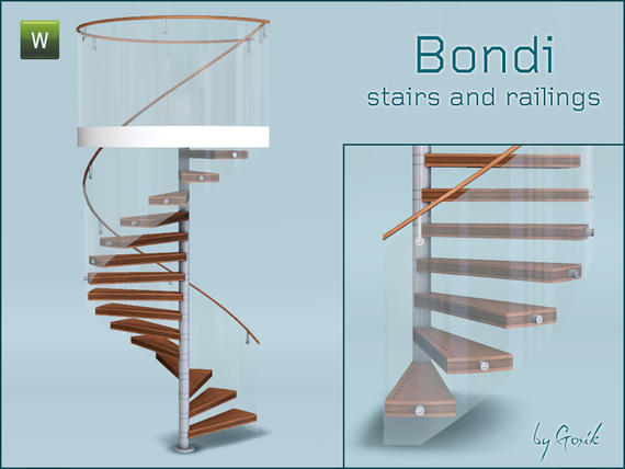 Bondi spiral stairs and railings от Gosik