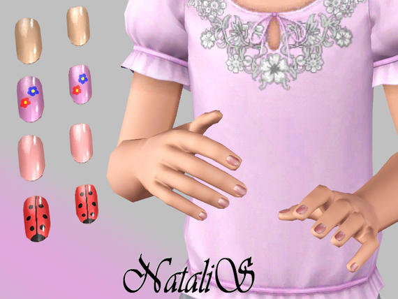 Short polished nails for Child (CF) от  NataliS
