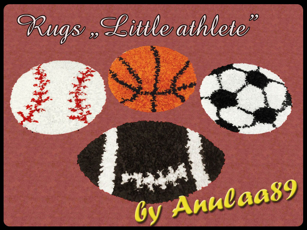 The Little Athlete Rugs by Anulaa89