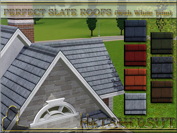 Perfect Slate Roofs with WhiteTrim от hatshepsut