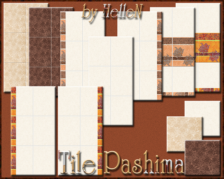 "Tile ""Pashima"" by Hellen"