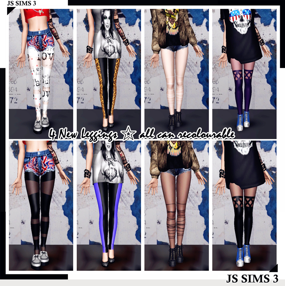 4 New Leggings by JS Sims3