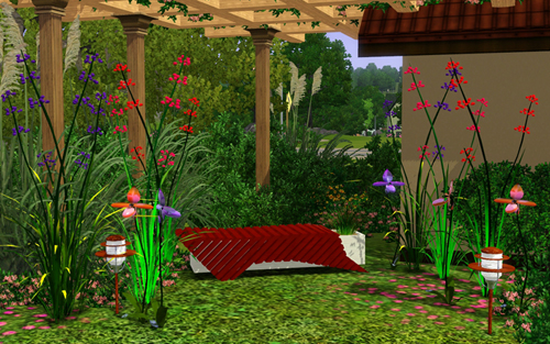 Magali garden set at Sims 3d