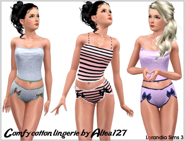 Comfy cotton lingerie with lace and ribbons by Altea127