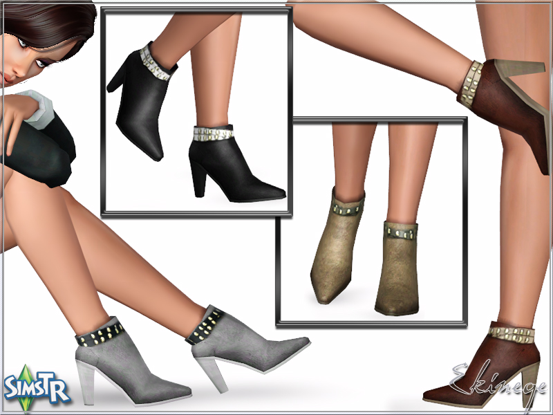 High Heel Ankle Boots by Ekinege