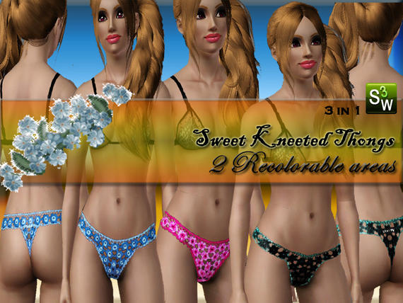 Knitted Thongs 3in1 от Lelas