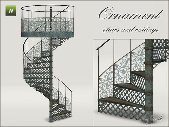 Ornament spiral stairs and railings от Gosik