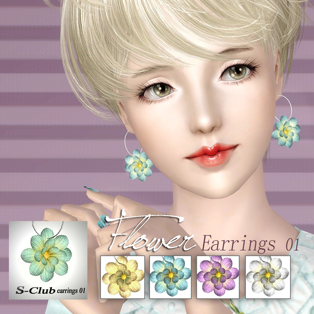 Flower Earrings #01 by S-Club