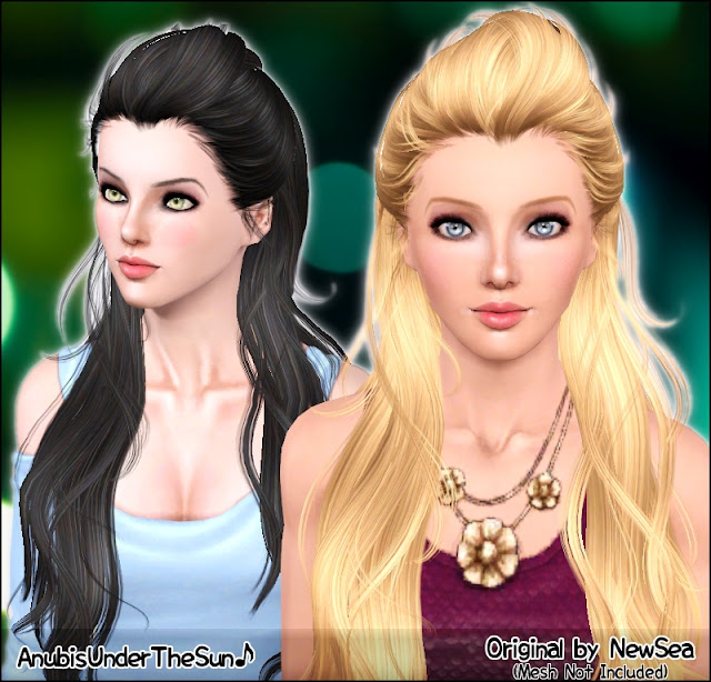 NewSea SwallowTail Female Hairstyle ~ Retextured for all ages by Anubis360