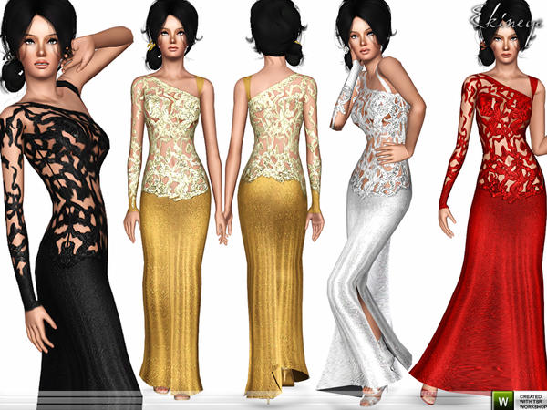 Haute Couture Ivy Night Dress by Ekinege