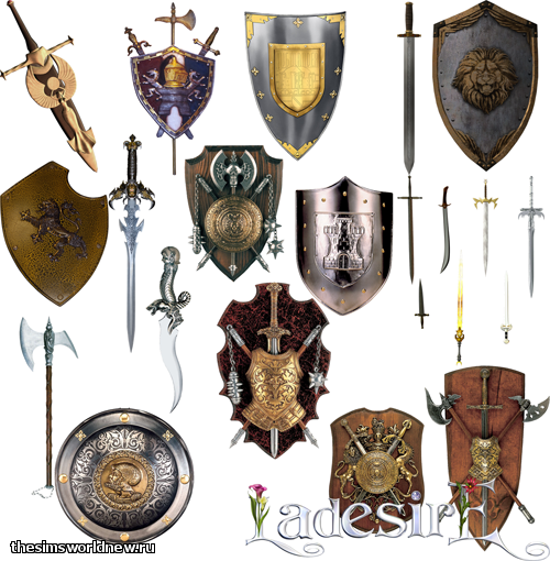 Medieval Weapon Decor Stencils от LaDesire
