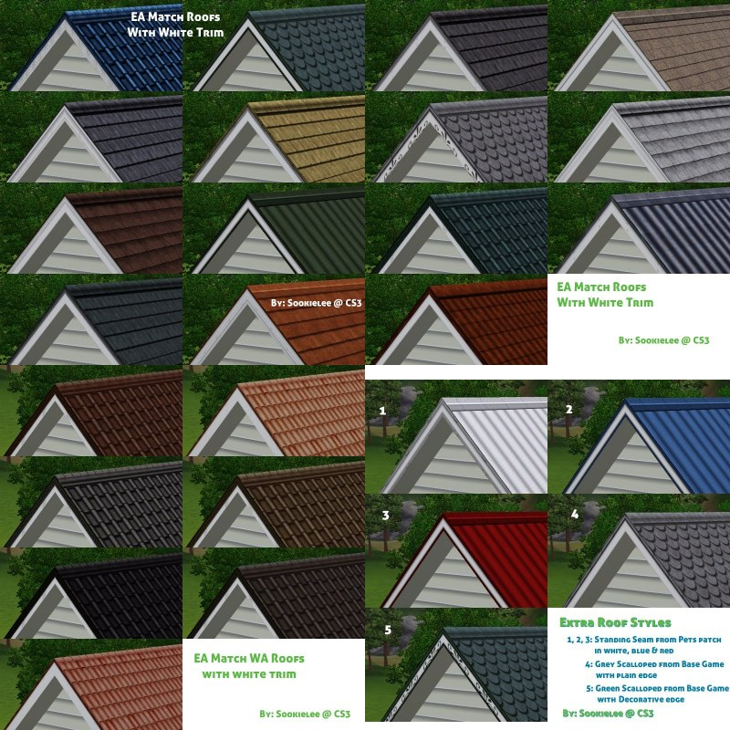EA Match Roofs with White Trim by Sookielee