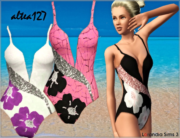 Floral One Piece Swimwear by Altea127