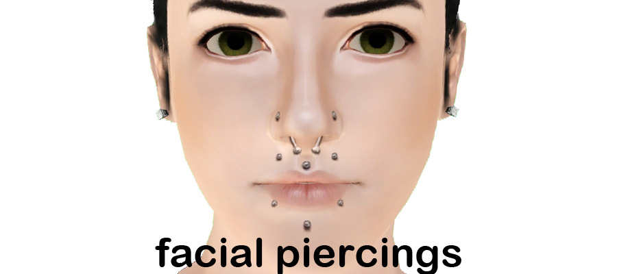 Facial Piercings by Oh Sigh Sims