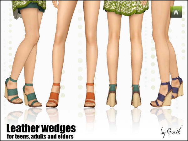 Leather wedges by Gosik