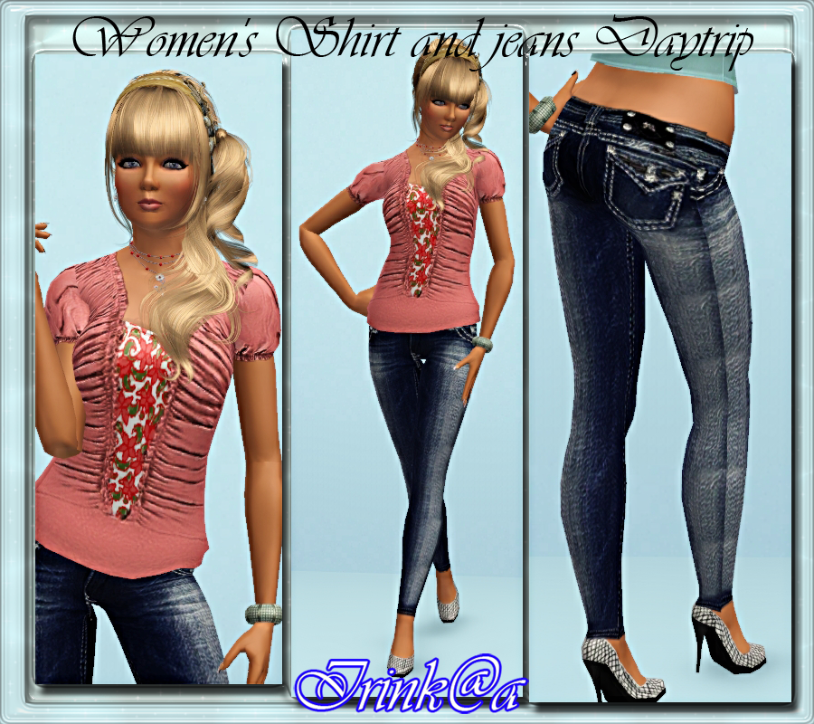Womens Shirt and jeans Daytrip Ribbed by Irink@a