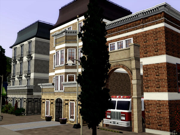 Fire Station by tinkerbellgirly