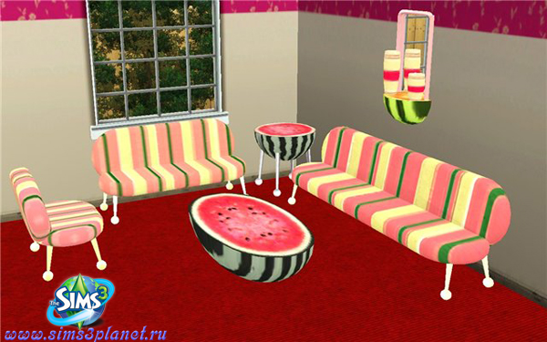 Watermelon living room