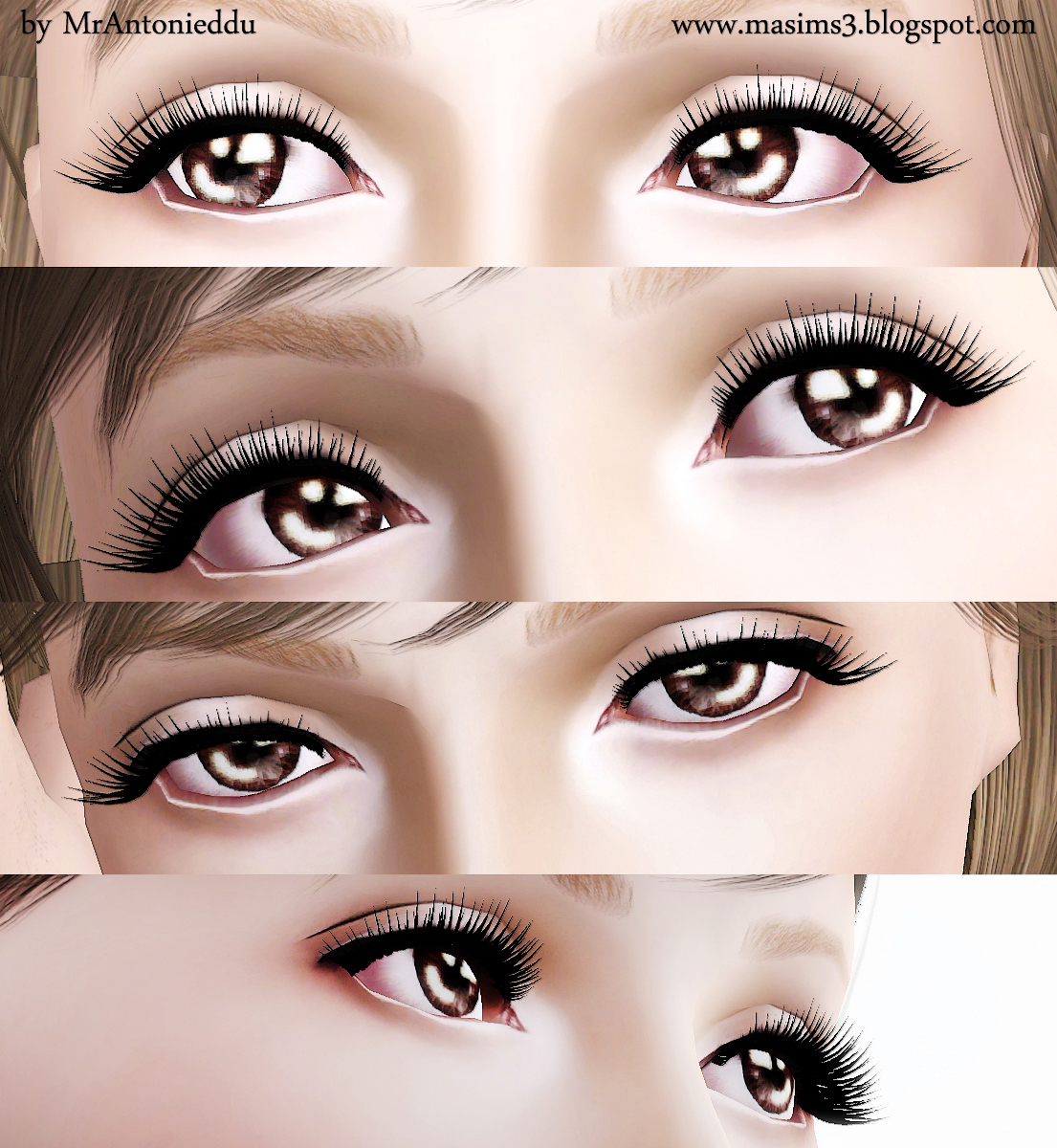 3D Eyelashes by MrAntonieddu