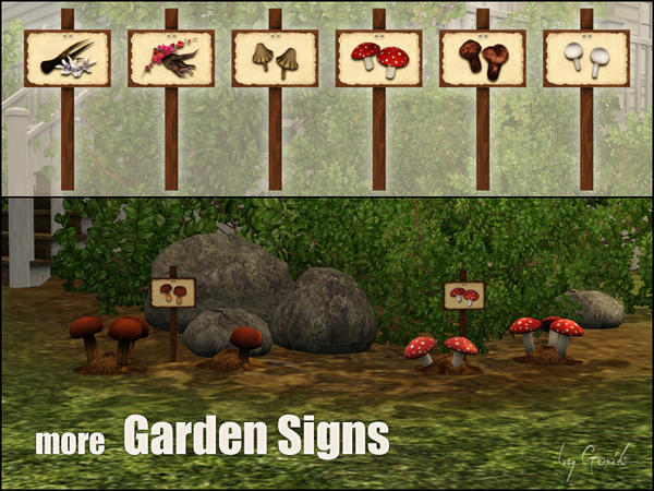 More garden signs by Gosik