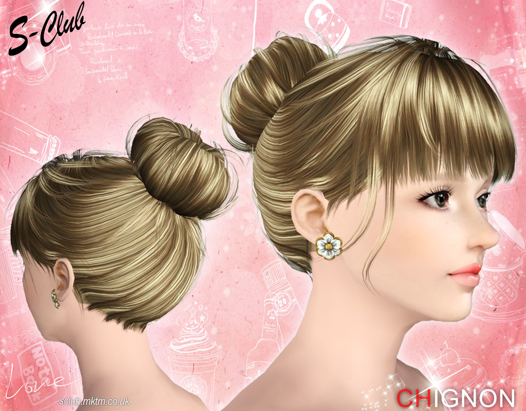 Hair Mesh N3 Chignon by S-Club
