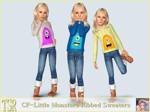CF_Little Monsters Ribbed Sweaters by ziggy28