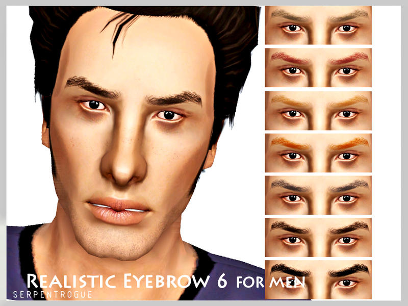 Realistic Eyebrow 6 by Serpentrogue