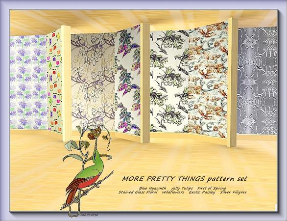 More Pretty Things pattern set by marcorse