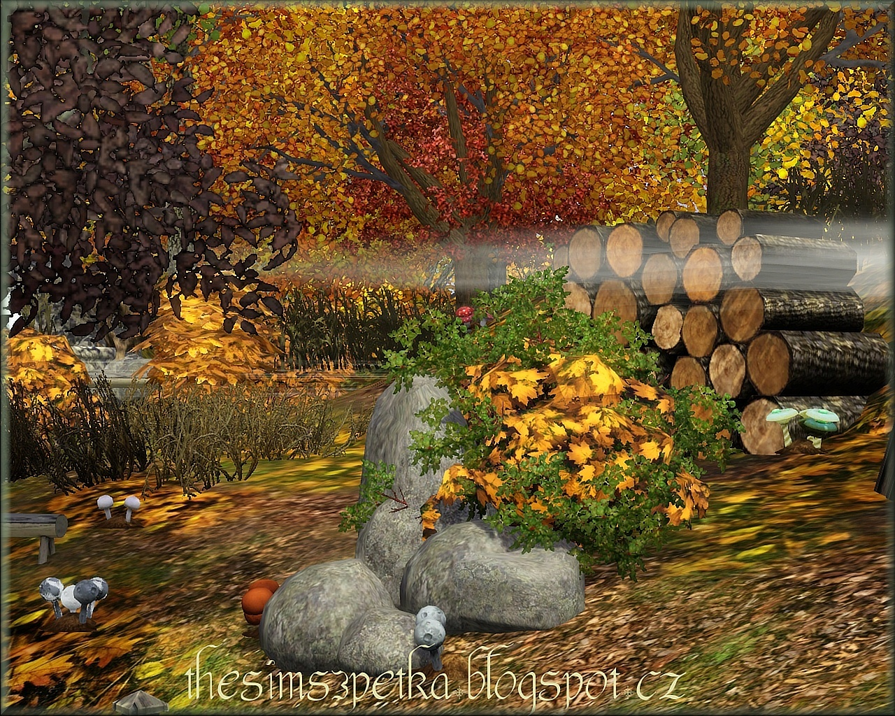 Little Fairy lodge with forest (autumn) by Petka