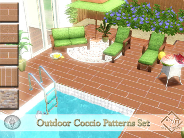Outdoor Coccio Patterns Set by Deviorse