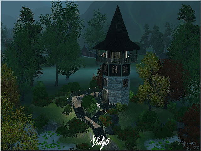Park with Tower by visty6