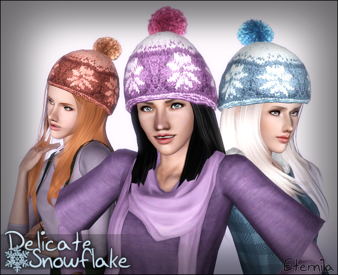 Delicate Snowflake ~ Winter Hat for Females by Eternila