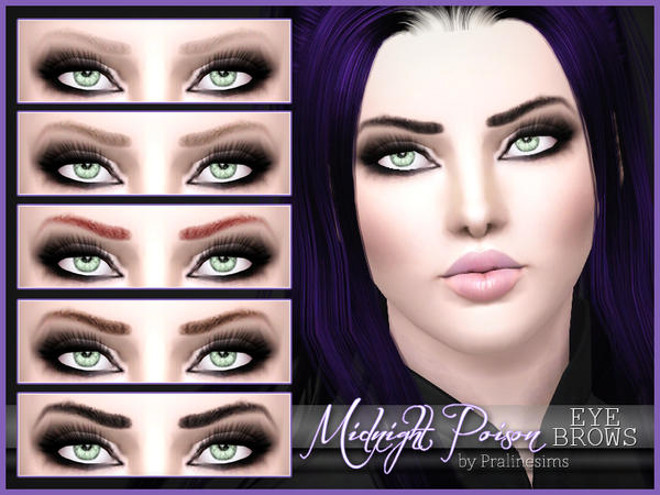 Midnight Poison Eyebrows by Pralinesims
