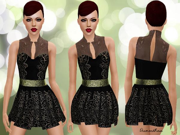 Baroque Cutwork Lace Dress by DiamondRose
