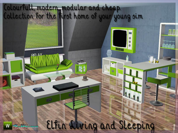Elfin Living and Sleeping by BuffSumm