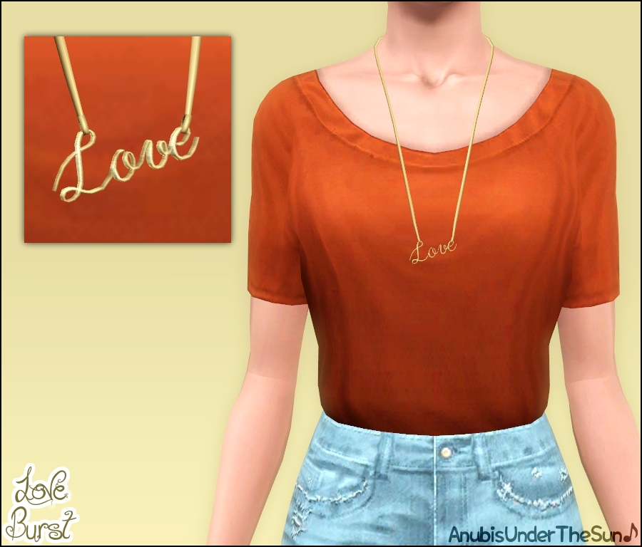 Love Burst Collection ~ Outfit+Necklace+Sandals for teen-to-adult by Anubis