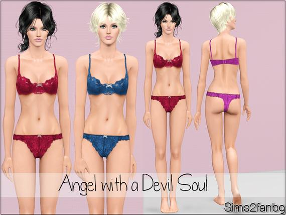 Angel with a Devil Soul By sims2fanbg