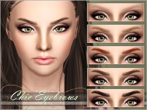 Chic Eyebrows by Pralinesims