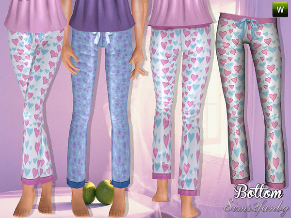 285 Sleepwear set by sims2fanbg