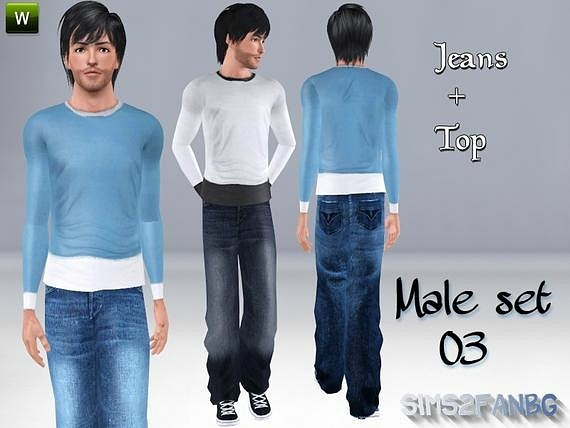 Male Set 03 by Sims2fanbg