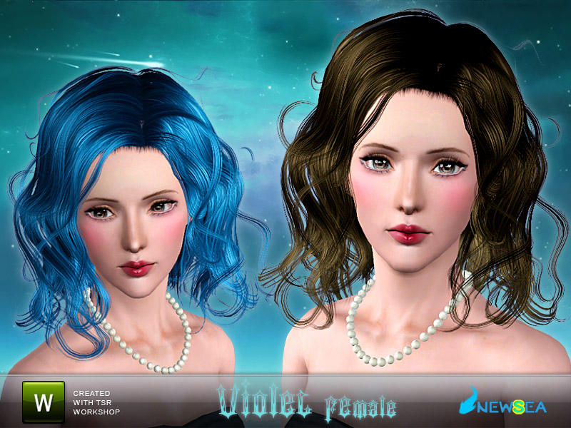 Violet Female Hairstyle by Newsea