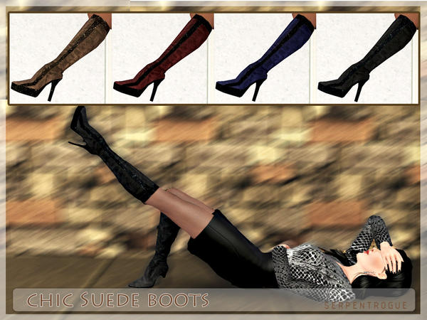 Chic Suede Boots by Serpentrogue