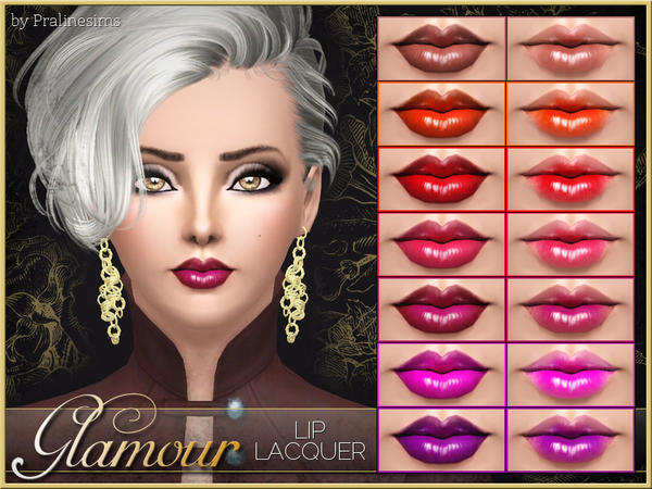 Glamour Lip Lacquer (with Lipliner) by Pralinesims