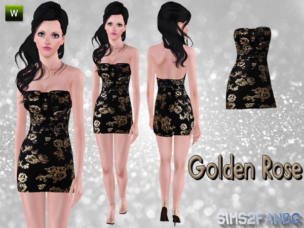 Golden Rose by Sims2fanbg
