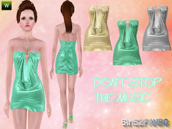 DON'T STOP THE MUSIC dress by Sims2fanbg
