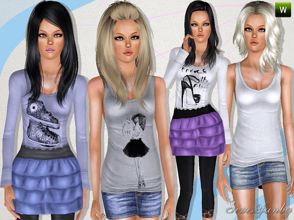 287 Casual teen set by sims2fanbg